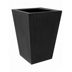 Кашпо Pottery Pots Fiberstone jumbo thom black, чёрного цвета XXL размер Длина — 145 см