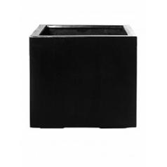Кашпо Pottery Pots Fiberstone jumbo without feet black, чёрного цвета M размер Длина — 70 см