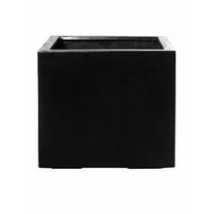Кашпо Pottery Pots Fiberstone jumbo without feet black, чёрного цвета S размер Длина — 50 см