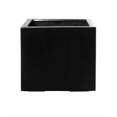 Кашпо Pottery Pots Fiberstone jumbo without feet black, чёрного цвета XL размер Длина — 110 см