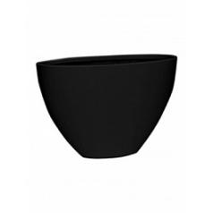 Кашпо Pottery Pots Fiberstone matt black, чёрного цвета dorant high L размер Длина — 75 см