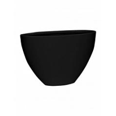 Кашпо Pottery Pots Fiberstone matt black, чёрного цвета dorant high M размер Длина — 535 см