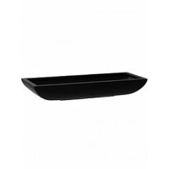 Кашпо Pottery Pots Fiberstone matt black, чёрного цвета pandora M размер Длина — 64 см