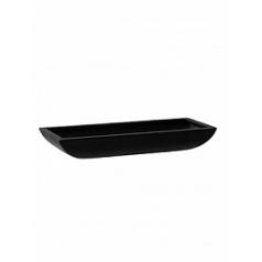Кашпо Pottery Pots Fiberstone matt black, чёрного цвета pandora S размер Длина — 50 см