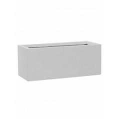 Кашпо Pottery Pots Fiberstone matt white, белого цвета balcony S размер Длина — 50 см