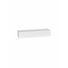 Кашпо Pottery Pots Fiberstone matt white, белого цвета balcony slim low S размер Длина — 50 см