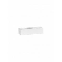 Кашпо Pottery Pots Fiberstone matt white, белого цвета balcony slim low XS размер Длина — 40 см