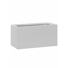 Кашпо Pottery Pots Fiberstone matt white, белого цвета balcony XS размер Длина — 40 см