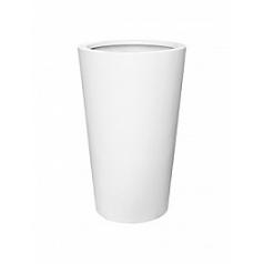 Кашпо Pottery Pots Fiberstone matt white, белого цвета belle XL размер  Диаметр — 77 см
