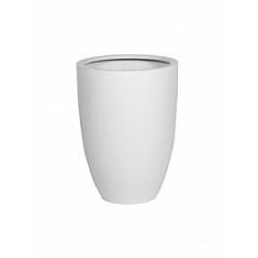 Кашпо Pottery Pots Fiberstone matt white, белого цвета ben L размер  Диаметр — 40 см