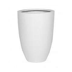 Кашпо Pottery Pots Fiberstone matt white, белого цвета ben XL размер  Диаметр — 52 см