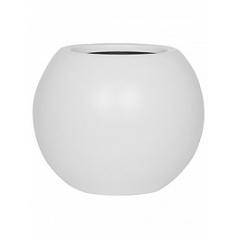 Кашпо Pottery Pots Fiberstone matt white, белого цвета beth XS размер  Диаметр — 26 см