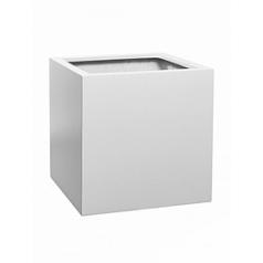 Кашпо Pottery Pots Fiberstone matt white, белого цвета block L размер Длина — 50 см