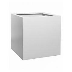 Кашпо Pottery Pots Fiberstone matt white, белого цвета block XL размер Длина — 60 см