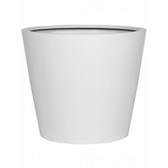 Кашпо Pottery Pots Fiberstone matt white, белого цвета bucket L размер  Диаметр — 68 см