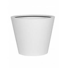 Кашпо Pottery Pots Fiberstone matt white, белого цвета bucket M размер  Диаметр — 58 см