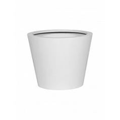 Кашпо Pottery Pots Fiberstone matt white, белого цвета bucket S размер  Диаметр — 50 см