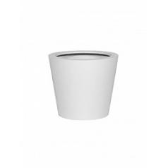 Кашпо Pottery Pots Fiberstone matt white, белого цвета bucket XS размер  Диаметр — 40 см