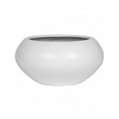 Кашпо Pottery Pots Fiberstone matt white, белого цвета cora M размер  Диаметр — 72 см