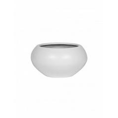 Кашпо Pottery Pots Fiberstone matt white, белого цвета cora S размер  Диаметр — 47 см
