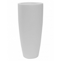 Кашпо Pottery Pots Fiberstone matt white, белого цвета dax L размер  Диаметр — 37 см