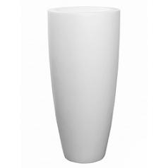 Кашпо Pottery Pots Fiberstone matt white, белого цвета dax XL размер  Диаметр — 47 см