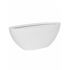 Кашпо Pottery Pots Fiberstone matt white, белого цвета dorant M размер Длина — 53 см