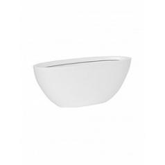 Кашпо Pottery Pots Fiberstone matt white, белого цвета dorant S размер Длина — 43 см