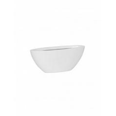 Кашпо Pottery Pots Fiberstone matt white, белого цвета dorant XS размер Длина — 32 см