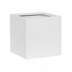 Кашпо Pottery Pots Fiberstone matt white, белого цвета fleur L размер Длина — 25 см