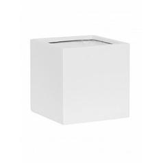 Кашпо Pottery Pots Fiberstone matt white, белого цвета fleur M размер Длина — 20 см