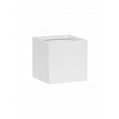 Кашпо Pottery Pots Fiberstone matt white, белого цвета fleur S размер Длина — 15 см