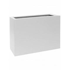 Кашпо Pottery Pots Fiberstone matt white, белого цвета jort L размер Длина — 95 см
