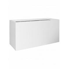 Кашпо Pottery Pots Fiberstone matt white, белого цвета jumbo jort XL размер Длина — 150 см