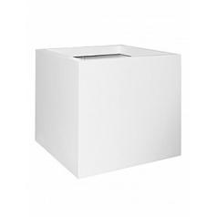 Кашпо Pottery Pots Fiberstone matt white, белого цвета jumbo L размер Длина — 90 см