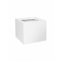 Кашпо Pottery Pots Fiberstone matt white, белого цвета jumbo M размер Длина — 70 см