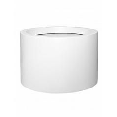 Кашпо Pottery Pots Fiberstone matt white, белого цвета jumbo max mid high L размер  Диаметр — 90 см