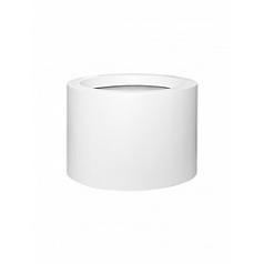 Кашпо Pottery Pots Fiberstone matt white, белого цвета jumbo max mid high M размер  Диаметр — 70 см