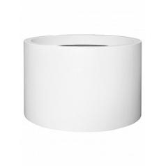 Кашпо Pottery Pots Fiberstone matt white, белого цвета jumbo max mid high XL размер  Диаметр — 110 см
