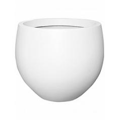 Кашпо Pottery Pots Fiberstone matt white, белого цвета jumbo orb L размер  Диаметр — 133 см