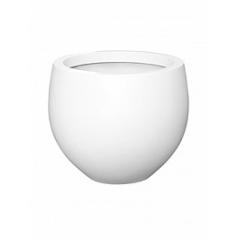 Кашпо Pottery Pots Fiberstone matt white, белого цвета jumbo orb M размер  Диаметр — 110 см