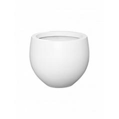 Кашпо Pottery Pots Fiberstone matt white, белого цвета jumbo orb S размер  Диаметр — 87 см