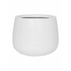 Кашпо Pottery Pots Fiberstone matt white, белого цвета kevan M размер  Диаметр — 26 см