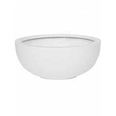 Кашпо Pottery Pots Fiberstone matt white, белого цвета maud M размер  Диаметр — 49 см