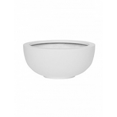 Кашпо Pottery Pots Fiberstone matt white, белого цвета maud S размер  Диаметр — 40 см