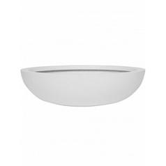 Кашпо Pottery Pots Fiberstone matt white, белого цвета monique L размер  Диаметр — 425 см