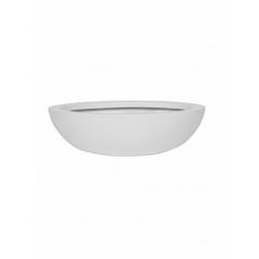Кашпо Pottery Pots Fiberstone matt white, белого цвета monique M размер  Диаметр — 335 см