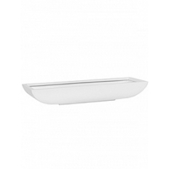 Кашпо Pottery Pots Fiberstone matt white, белого цвета pandora M размер Длина — 635 см