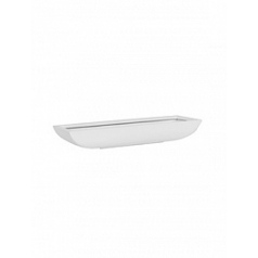 Кашпо Pottery Pots Fiberstone matt white, белого цвета pandora S размер Длина — 50 см