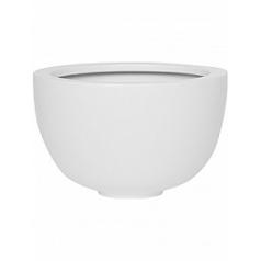 Кашпо Pottery Pots Fiberstone matt white, белого цвета peter M размер  Диаметр — 30 см
